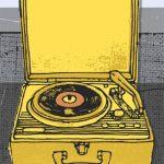 Vintage Record print by Kavel Rafferty at Habitat