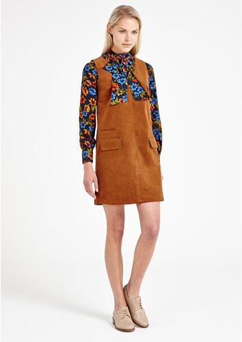 1960s-style Louche Pilar Corduroy Shift Dress at Joy The Store