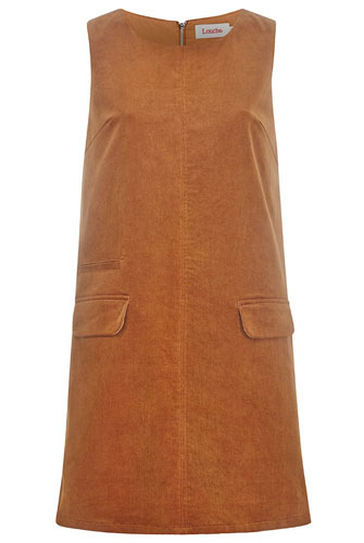 1960s-style Louche Pilar Corduroy Shift Dress at Joy The Store
