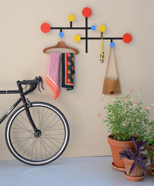 Mondrian-inspired Piet coat stand by Presse Citron