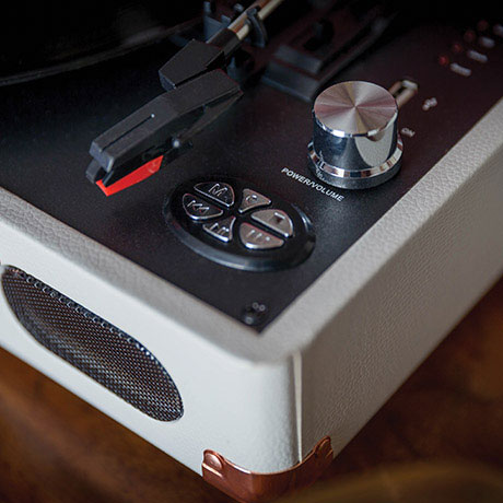 Elyxr retro-style portable record players at Monoqi