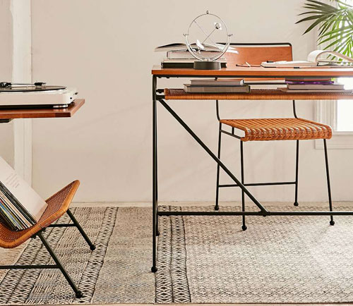 Ryerson midcentury-style desk and chair at Urban Outfitters