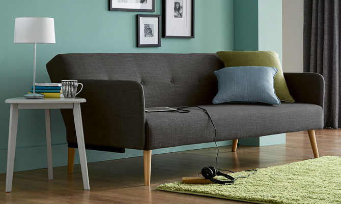 Finnley midcentury-style sofa range at Next