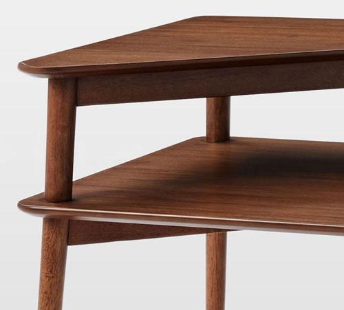 Mid-Century Stepped Side Table at West Elm