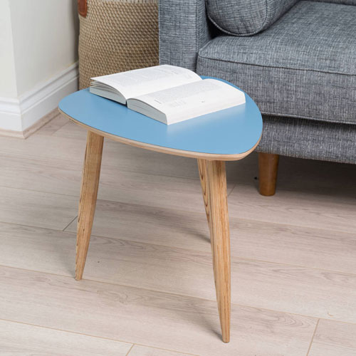 Pebble shaped midcentury-style side tables by The Clementine
