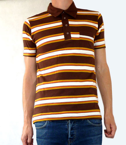 1960s-style striped polo shirts by Fuzzdandy