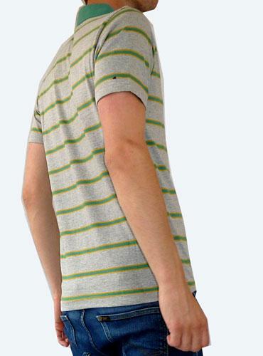 1960s-style striped polo shirts by Fuzzdandy