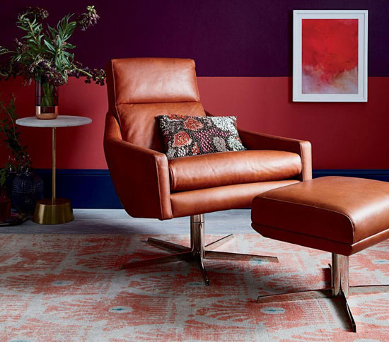 1960s-style Austin swivel armchair at West Elm