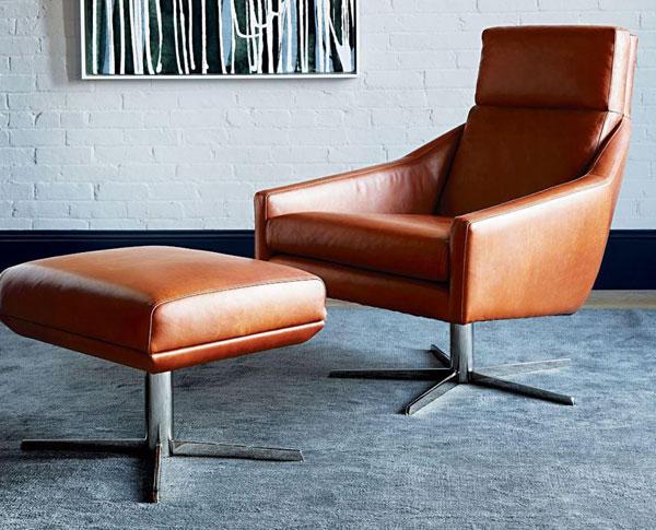 1960s-style Austin swivel armchair at West Elm