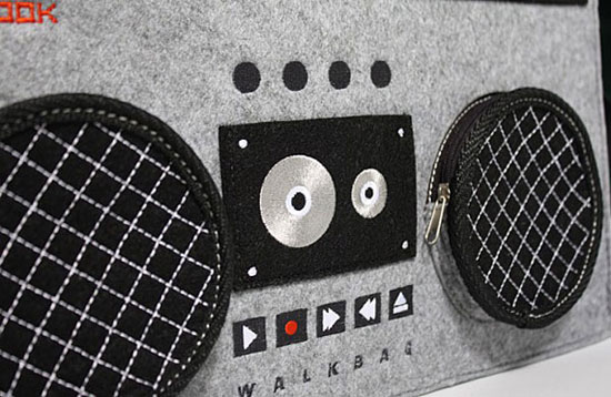 Old school style: The Boombox Bag