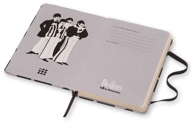 The Beatles limited edition Yellow Submarine notebooks by Moleskine