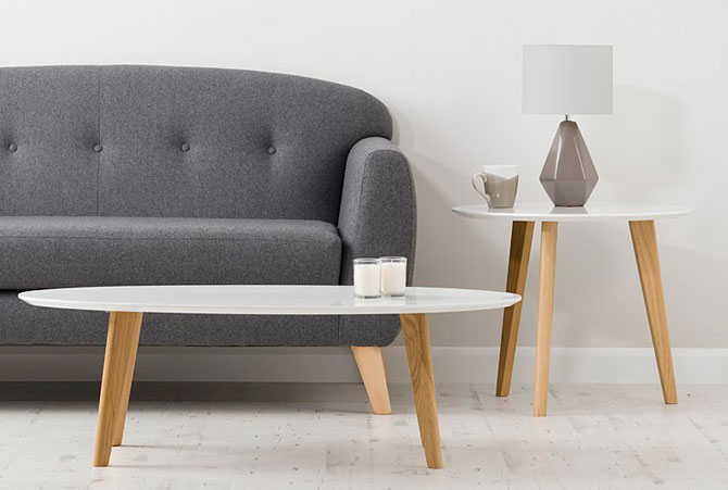 Affordable midcentury: Brooklyn table range by George at Asda