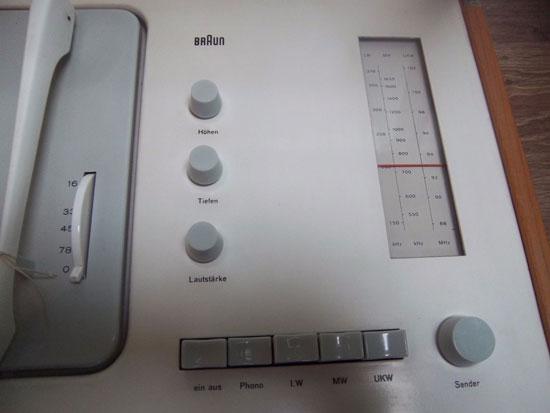 Restored 1950s Dieter Rams-designed Braun SK5 audio system