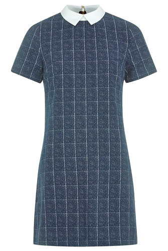 Louche Dree Check Contrast Collar Dress at Joy The Store