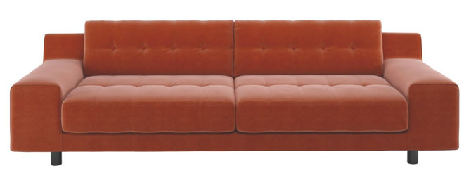 1970s-style Hendricks velvet sofa at Habitat