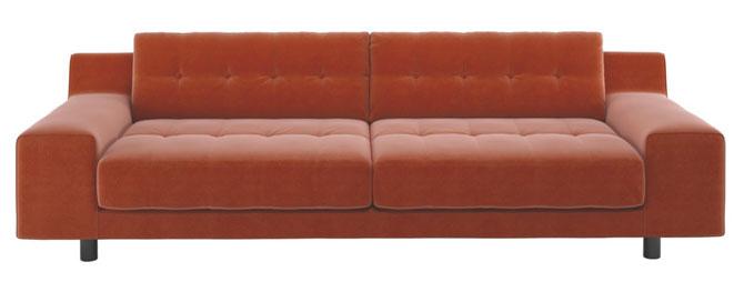 1970s style hendricks velvet sofa at habitat. Black Bedroom Furniture Sets. Home Design Ideas