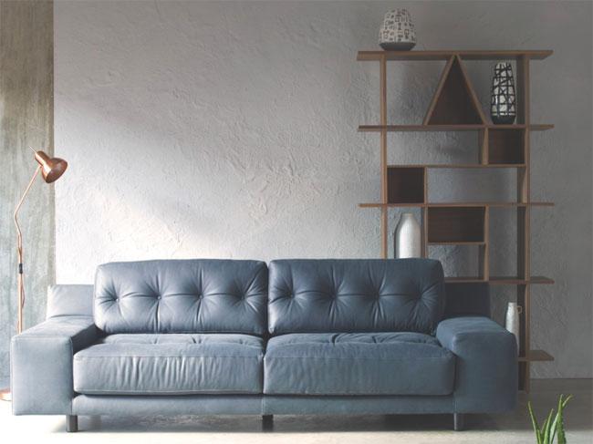 1970s-style Hendricks velvet sofa at Habitat