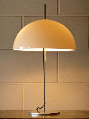 1970s mushroom-style table lamp