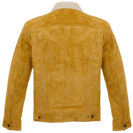 Levi's vintage-style Type III Trucker Sherpa Jacket in suede