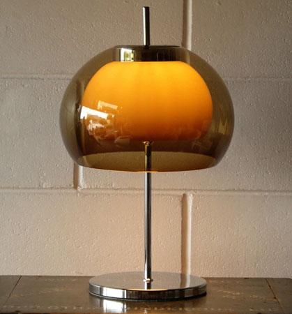 Vintage 1970s mushroom lamp