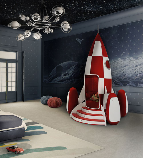 Tintin-inspired Rocky Rocket armchair for kids by Circu