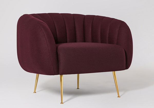 Retro-style Monroe armchair at Swoon Editions