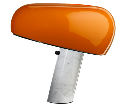 1960s Achille and Pier Giacomo Castiglioni-designed Snoopy Lamp reissued in two limited edition colours