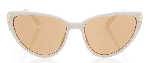 1950s-style oval-shaped sunglasses at Topshop
