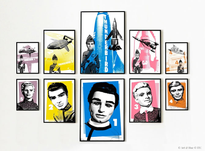 Thunderbirds Go Pop! pop art prints by Art & Hue