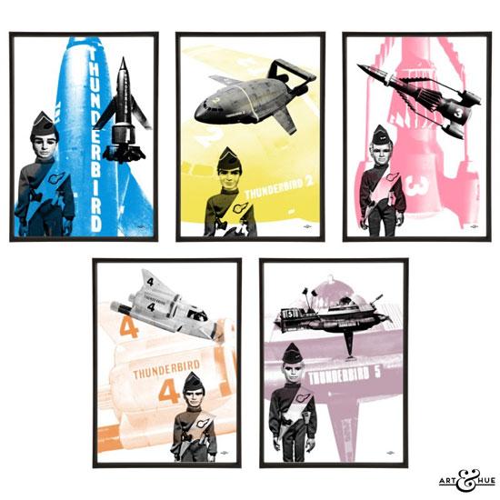 Thunderbirds Go Pop! pop art prints by Art & Hue