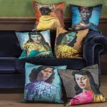 Tretchikoff cushions at Graham & Green