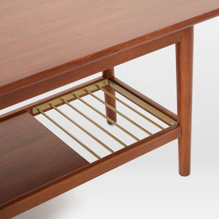 Mid-Century Metal Slat Bench at West Elm