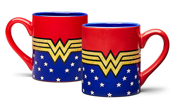 Wonder Woman Glitter Mug at ThinkGeek