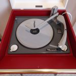 Fully restored 1960s Dansette Bermuda record player with legs