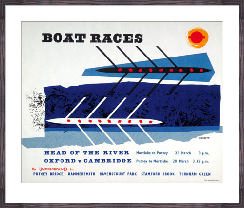 1950s Anne Hickmott-designed Boat Races print at King & McGaw