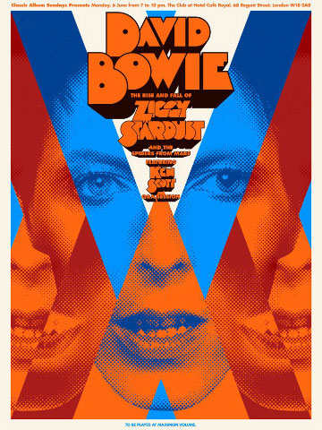 A Clockwork Bowie limited edition prints by Carl Glover