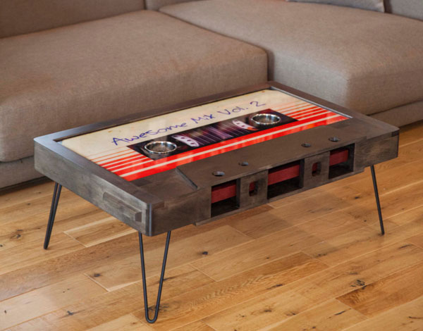 Cassette tape coffee tables by Taybles
