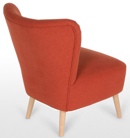Charley retro-style accent chair at Made