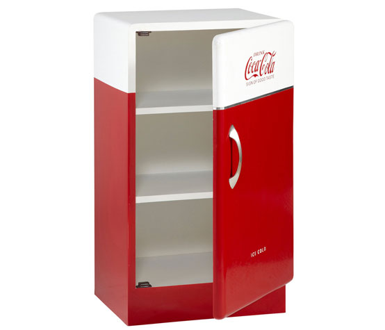 1950s-style Coca Cola wooden storage unit at Maisons du Monde