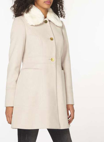1960s-inspired Dolly Coat at Dorothy Perkins