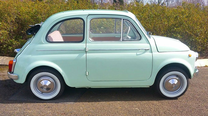 1963 Fiat 500D Transformabile with suicide doors