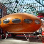 A fully preserved 1960s Matti Suurinen-designed Futuro House goes up for sale