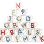 Festival Of Britain-inspired Heritage Alphabet mugs at Heal's