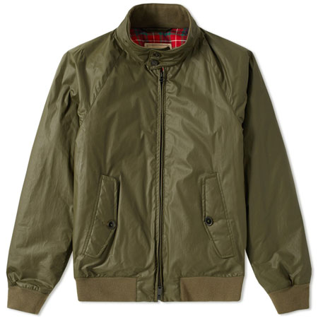 A classic reworked: Baracuta G9 Dry Wax Harrington Jacket