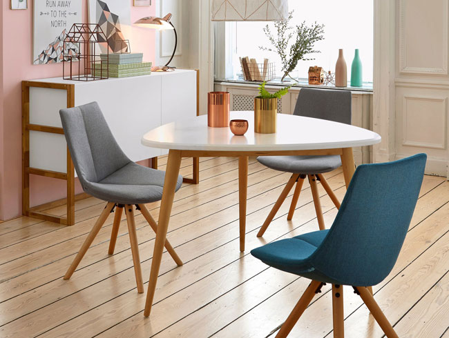Jimi midcentury-style three-seater dining table at La Redoute