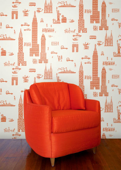 The Jim Flora wallpaper collection by the Double E Company