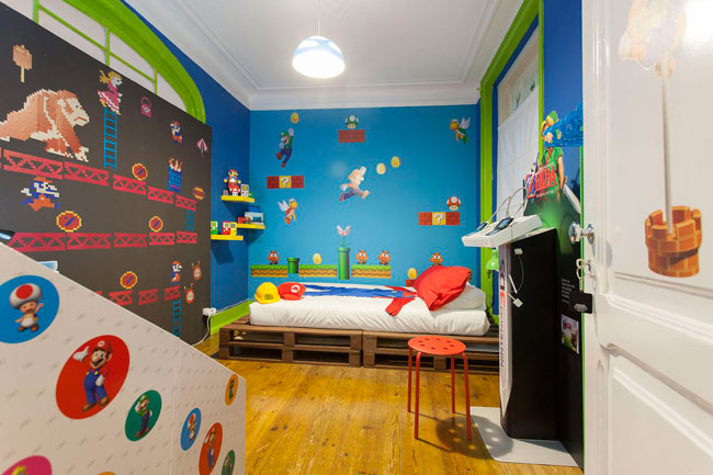 Super Mario-inspired Airbnb apartment in Lisbon, Portugal