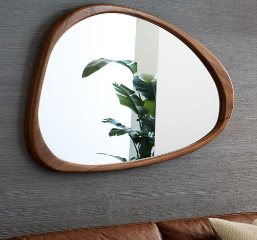 mid century asymmetrical wall mirror at west elm. Black Bedroom Furniture Sets. Home Design Ideas