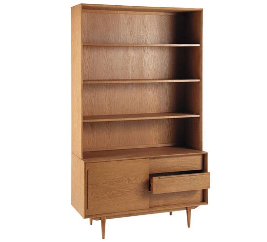 Midcentury style portobello bookcase at maisons du monde - Portobello maison du monde ...