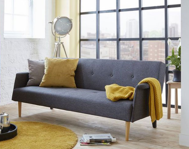 High street retro: Rhys midcentury-style sofa bed at DFS